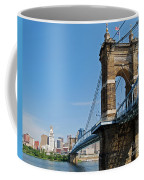 Roebling Bridge To Cincinnati Coffee Mug