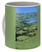 Rolling Fields With Grazing Sheep Coffee Mug