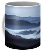 Rolling Hills In The Fog, Rwanda, Africa Coffee Mug