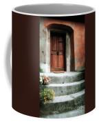 Roman Door And Steps Rome Italy Coffee Mug
