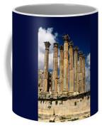 Roman Ruins At Jerash, Jordan Coffee Mug by Richard Nowitz