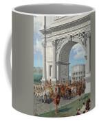 Roman Soldiers Lead Chained Captives Coffee Mug