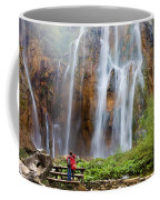 Romantic Scenery By The Waterfall Coffee Mug