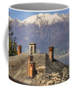 Roof With Chimney And Snow-capped Mountain Coffee Mug