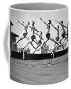 Rooftop Dancers In New York Coffee Mug