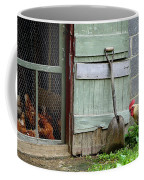 Rooster And Hens Coffee Mug