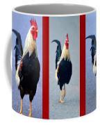 Rooster Triptych Coffee Mug