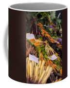 Root Vegetables At The Market Coffee Mug by Heather Applegate