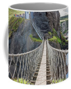 Rope Bridge At Carrick-a-rede In Northern Island Coffee Mug