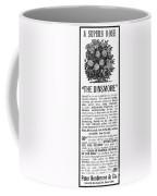 Rose Advertisement, 1890 Coffee Mug