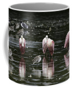 Roseate Reflections - Spoonbill Nature Scene Coffee Mug