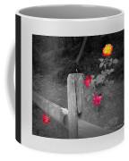 Roses And Fence Coffee Mug
