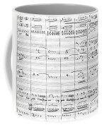 Rossini Manuscript Page Coffee Mug