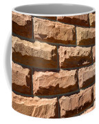 Rough Hewn Sandstone Brick Wall Of A Historic Building Coffee Mug