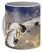 Rough Legged Hawk In Flight Coffee Mug