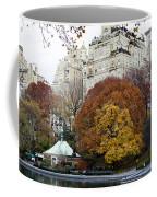 Round Autumn Trees Coffee Mug