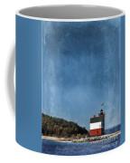 Round Island Lighthouse In Michigan Coffee Mug