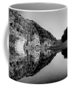 Round The Bend Buffalo River In Black And White Coffee Mug