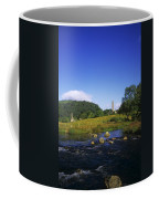 Round Tower And River In The Forest Coffee Mug