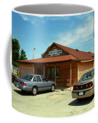 Route 66 - Old Log Cabin Coffee Mug by Frank Romeo