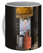 Route 66 Garage Interior Coffee Mug
