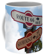 Route 66 Street Sign Coffee Mug