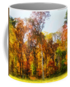 Row Of Autumn Trees Coffee Mug