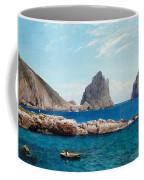 Rowing Off The Rocks Coffee Mug