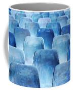 Rows Of Blue Chairs Coffee Mug by Carlos Caetano