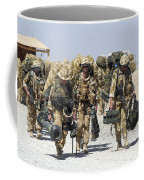 Royal Marines Haul Their Equipment Coffee Mug