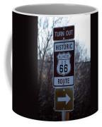 Rt 66 Il Turn Out Signage Coffee Mug