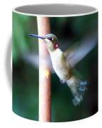 Ruby Throated Hummer In Flight Coffee Mug