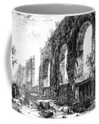 Ruins Of Roman Aqueduct, 18th Century Coffee Mug