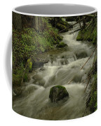 Running Over The Rocks   Coffee Mug