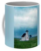Rural Church With Stormy Sky Coffee Mug