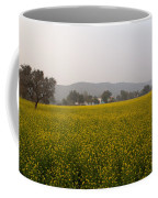 Rural Landscape With A Field Of Mustard Coffee Mug