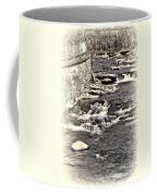 Rushing Water Cream Coffee Mug