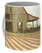 Rustic Barn And Field Rows Coffee Mug