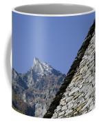 Rustic House And Mountain Coffee Mug