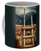 Rustic Ladder On Adobe House Coffee Mug