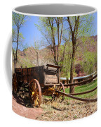 Rustic Wagon At Historic Lonely Dell Ranch - Arizona Coffee Mug by Gary Whitton