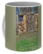 Rustic Wooden Door In Stone Barn Coffee Mug