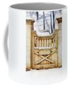 Rustic Wooden Gate In Snow Coffee Mug