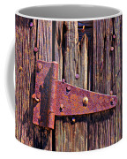 Rusty Barn Door Hinge  Coffee Mug