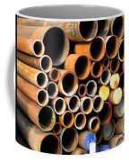 Rusty Steel Pipes Coffee Mug