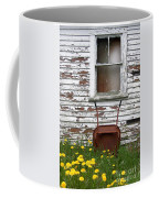 Rusty Wheelbarrow And Wildflowers Coffee Mug