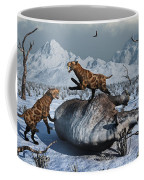 Sabre-toothed Tigers Battle Coffee Mug