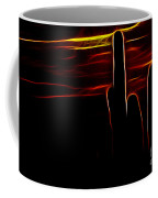 Saguro Cactus Silhouette Coffee Mug