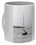 Sailboat In Maine Fog Coffee Mug