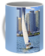 Sailboat In Toronto Harbor Coffee Mug